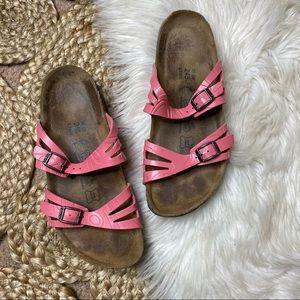 Birkenstock Pink Granada Patent Sandals
